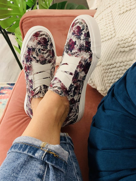 Blowfish Dark Floral Sneakers