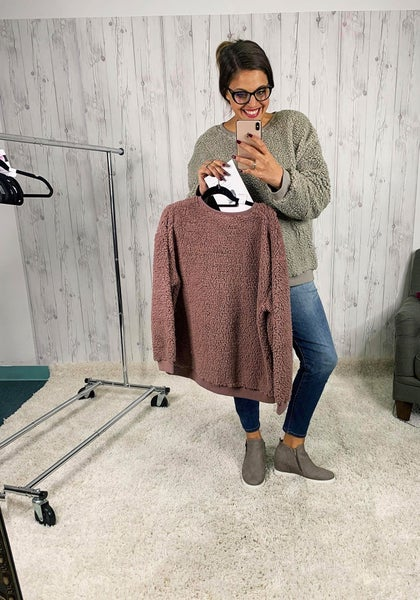 PLUS Easel Sherpa Crewneck Sweatshirt