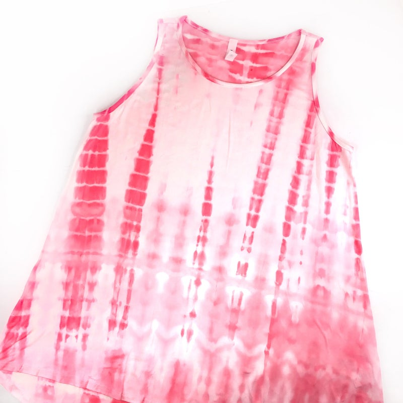 Plus/Reg Neon HoneyMe Pink Tie Dye Tank