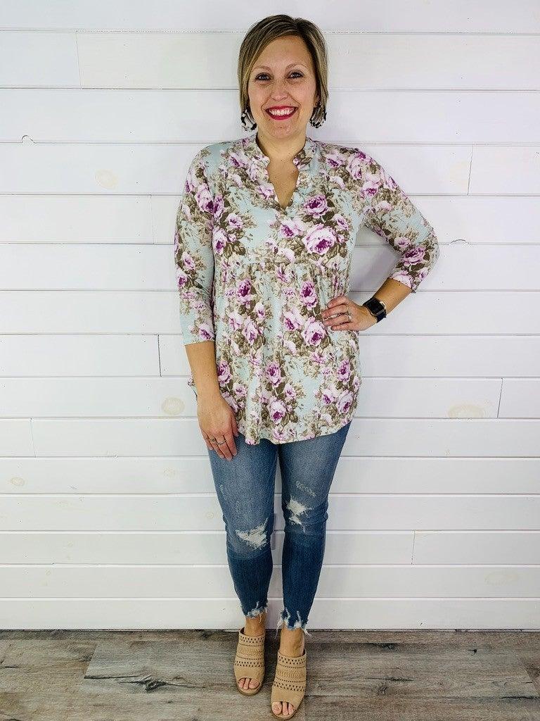 PLUS/REG HoneyMe Mint Floral Gabby