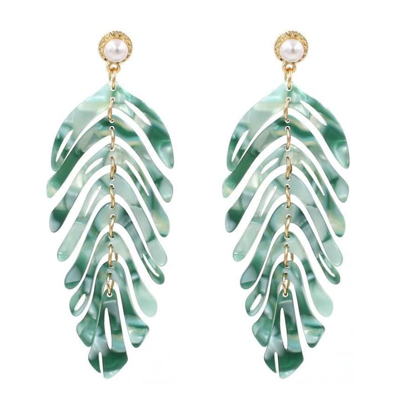 Acrylic Tropical Drop Earrings