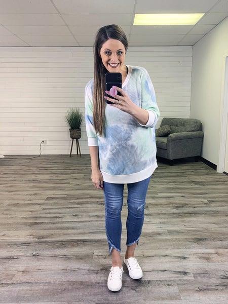 PLUS/REG Judy Blue Go Anywhere Medium Wash Tulip Hem Skinny Jeans