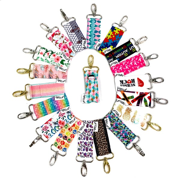 NEW PRINTS! Lippy Clip Lip Balm Holders- Multiple Prints!