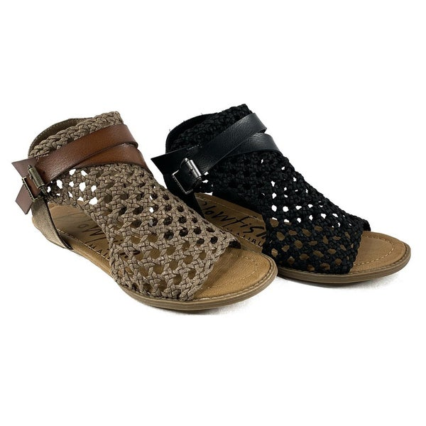Blowfish Open Weave Double Buckle Sandal