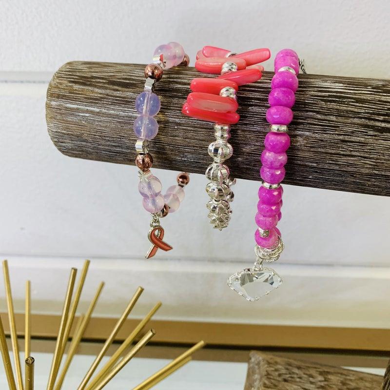 Erimish Pink Starter Stack Bracelet