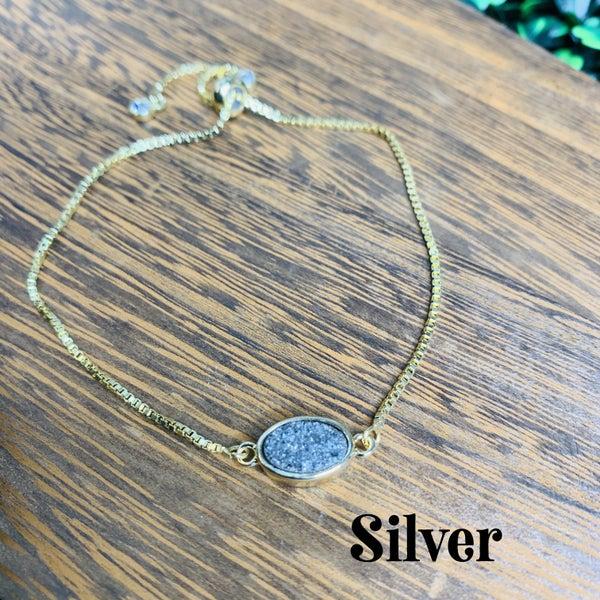 Handmade Bracelet with Druzy Stone