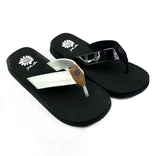 Yellowbox Shiny Flip Flops
