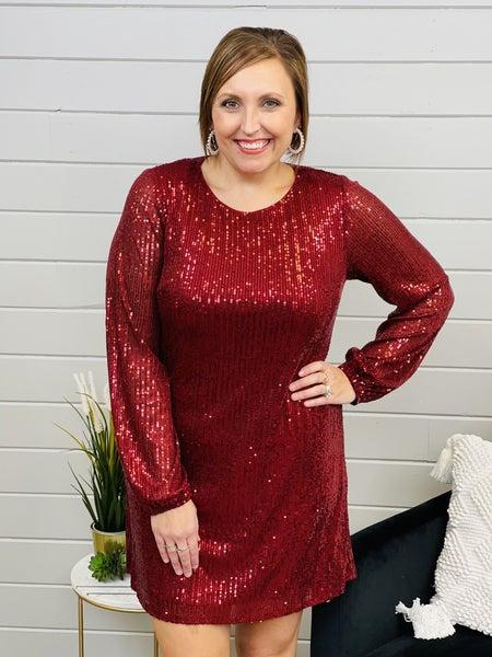 PLUS/REG Shine Down On Me Sequin Dress- 2 Colors!