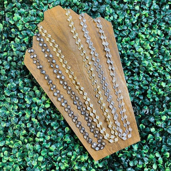 "Karli Buxton 60"" Layer Chain Necklace- 3 Colors!"