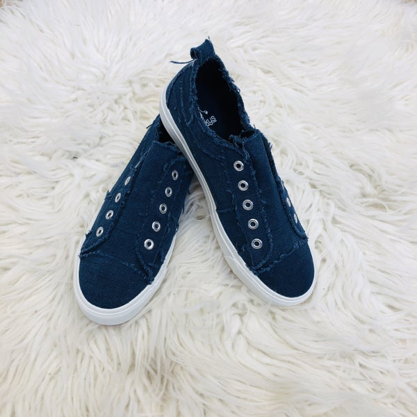 Corky's Navy Slip On Sneakers