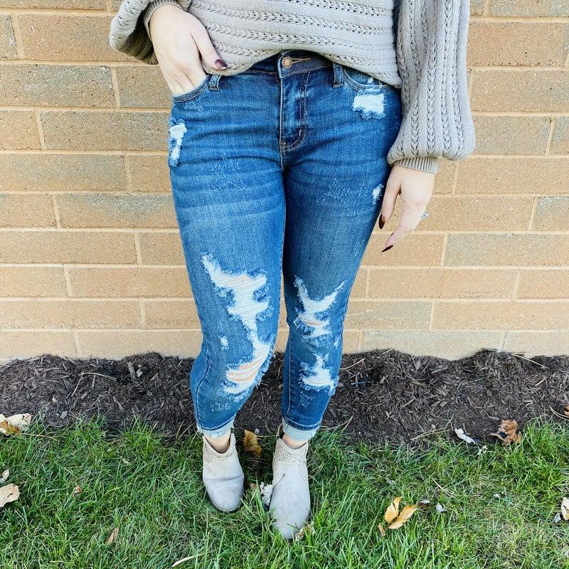 PLUS/REG Judy Blue Don't Sass Me Skinny Jeans