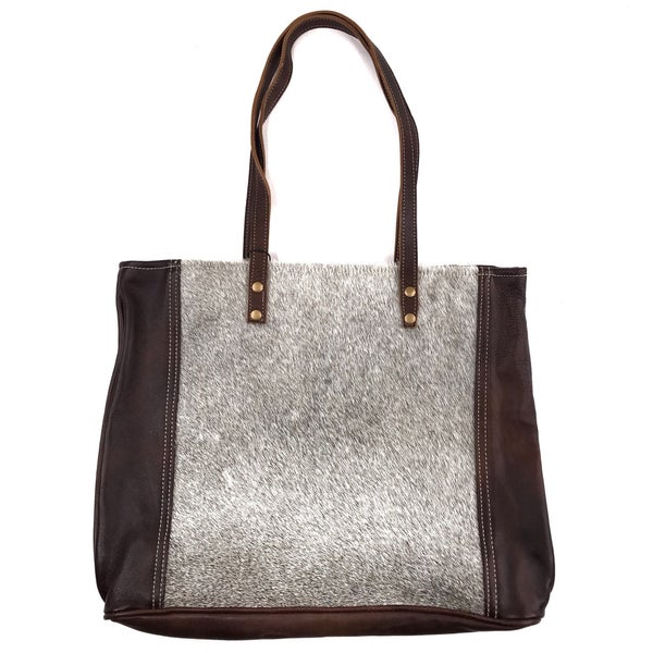 Myra Bag Fur and Leather Tote
