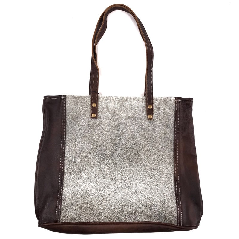 Myra Bag Fur and Leather Tote