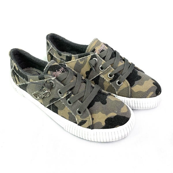 Blowfish Camo Lace Up Slip On Sneakers