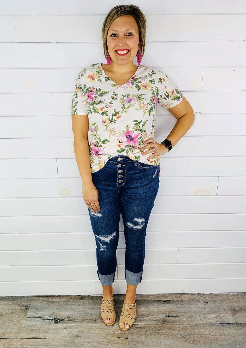 PLUS/REG Judy Blue Stand Tall Cuffed Skinny Jeans