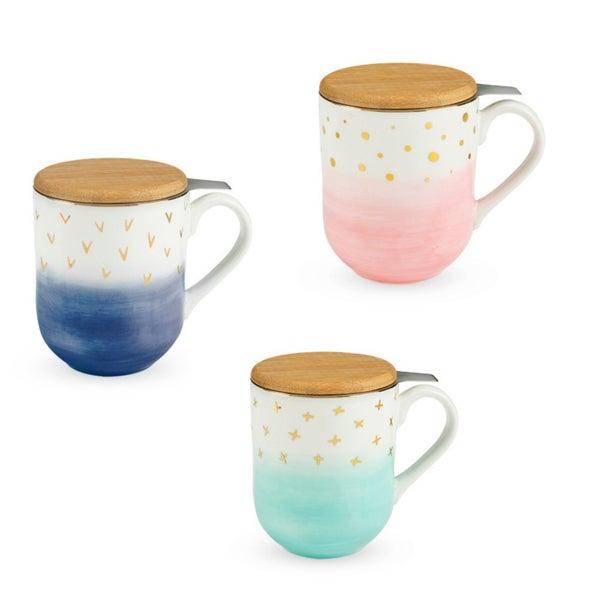 RESTOCK! Ceramic Tea Mug and Infuser--3 Colors!