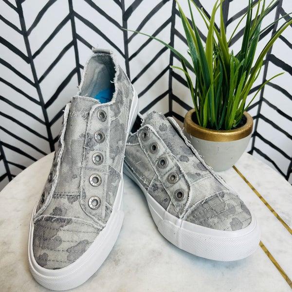 Blowfish Painted In Grey Sneakers