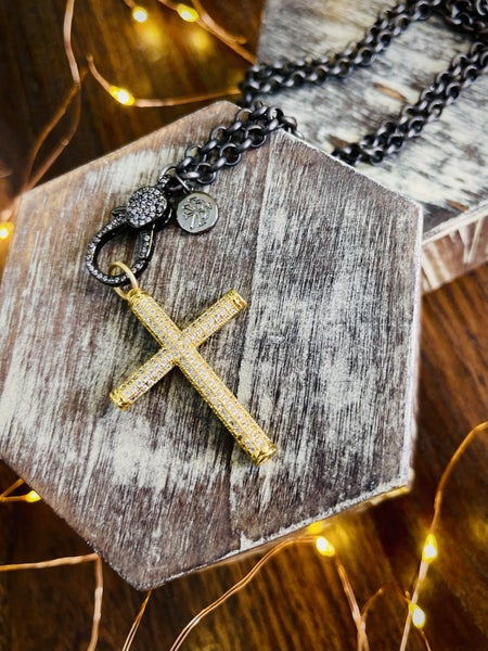 Karli Buxton Gold Etched Cross