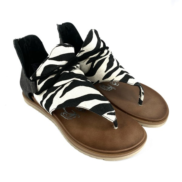 Zebra Gladiator Sandals