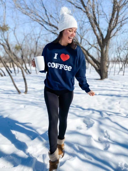 PREORDER Plus/Reg I Love Coffee Sweatshirt