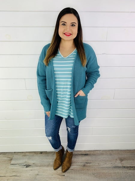 DOORBUSTER PLUS/REG Knit Cardi with Pockets