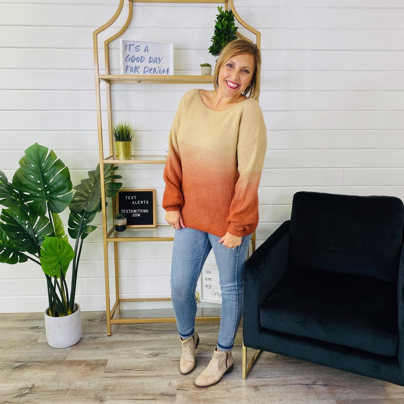 Ombre All Day Sweater- 2 Colors!