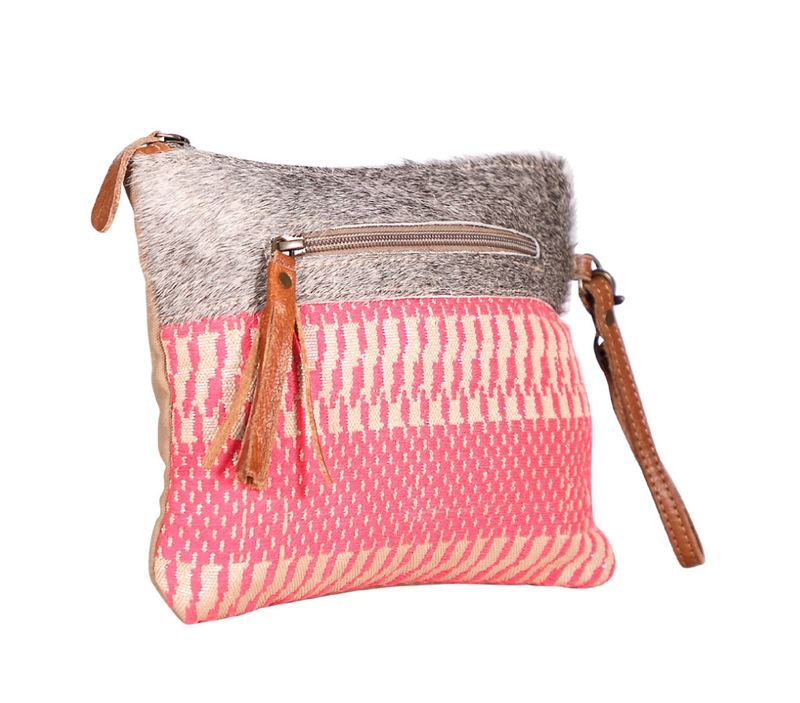 Myra Bag Bright Coral Double Zip Wristlet