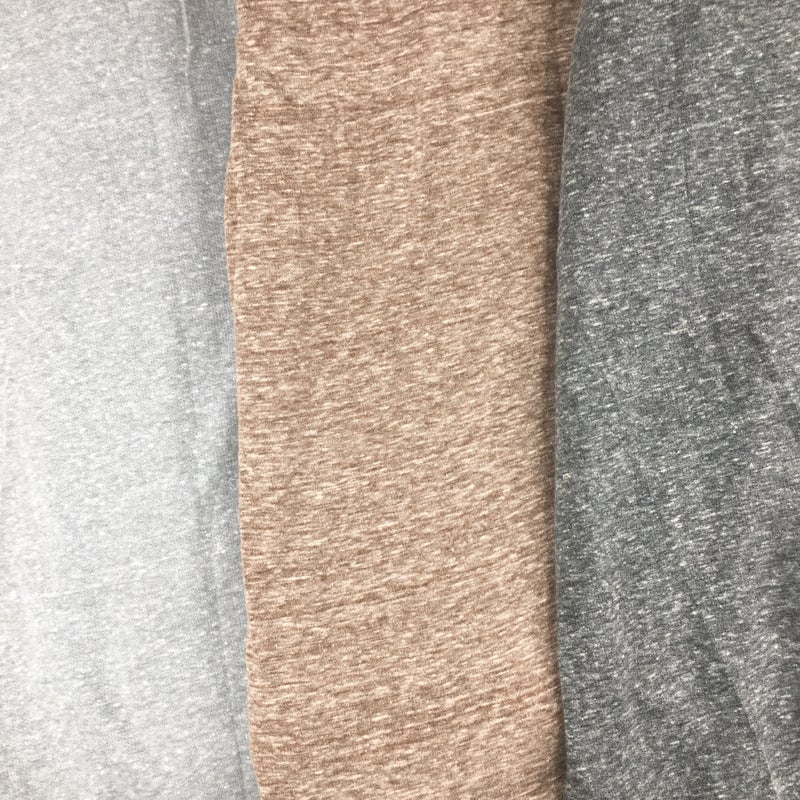 Easel Plus/Reg Long Sleeve Heathered Cowl Neck Tunic