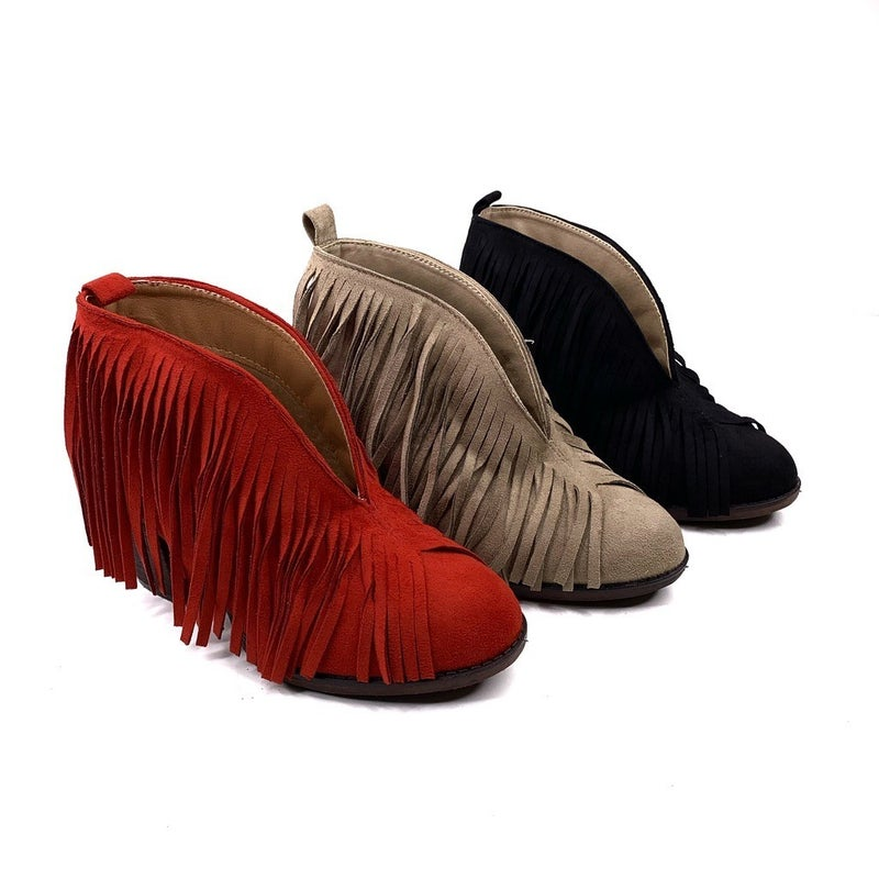Fringe Booties- 3 Colors!