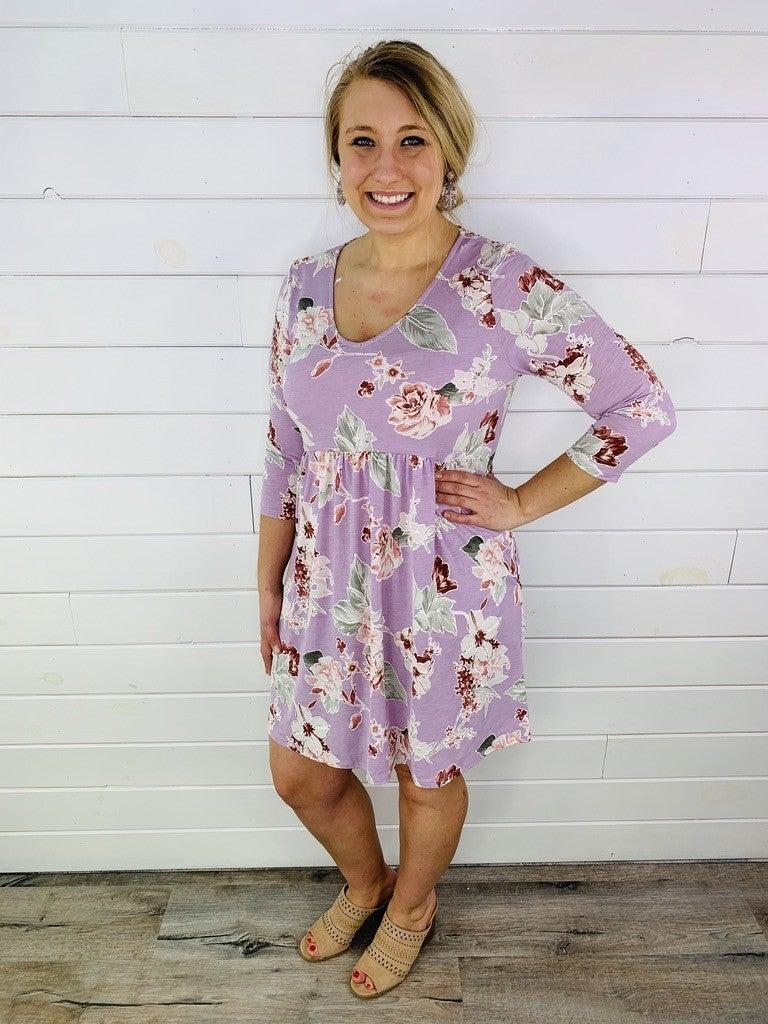 PLUS/REG HoneyMe Floral Dress with Pockets