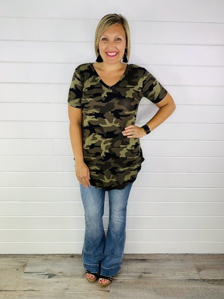PLUS/REG Doorbuster Camo Tee - 2 Colors!