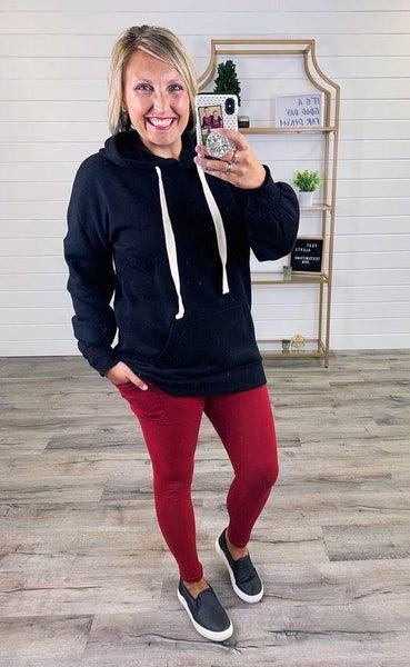 PLUS/REG MOCO Wine Leggings With Pockets