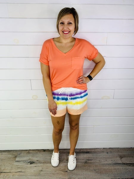 Easel Tie Dye Terry Knit Shorts