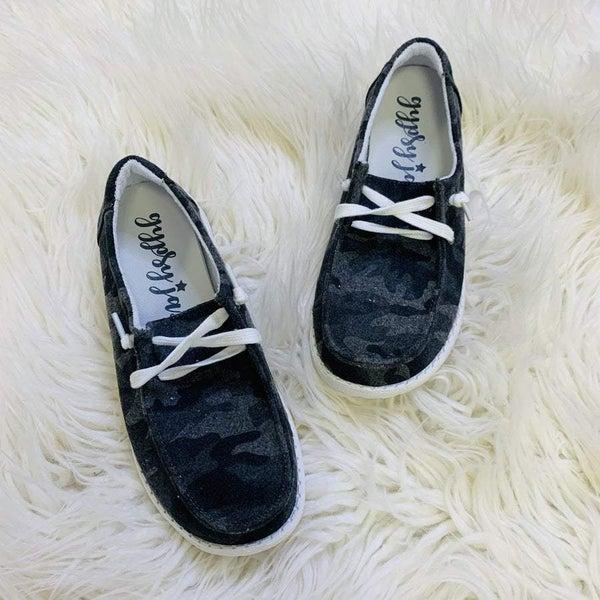 Very G Grey Camo Sneakers