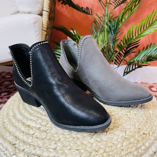 Very G Take No Chances Booties- 2 Colors!