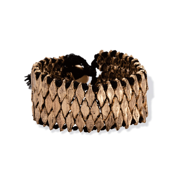Myra Handcrafted Metal Weave Bracelet
