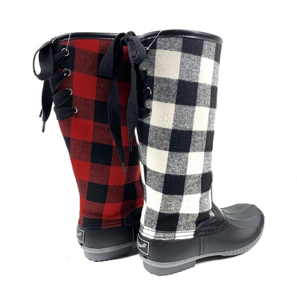 Buffalo Check Tall Winter Boot