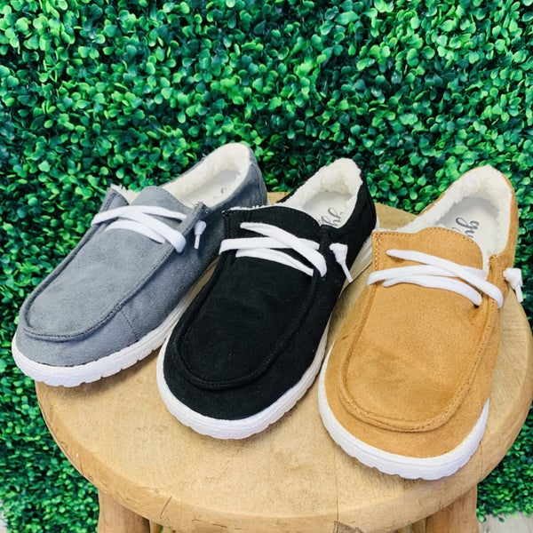 Very G Sherpa Lined Sneakers- 3 Colors!