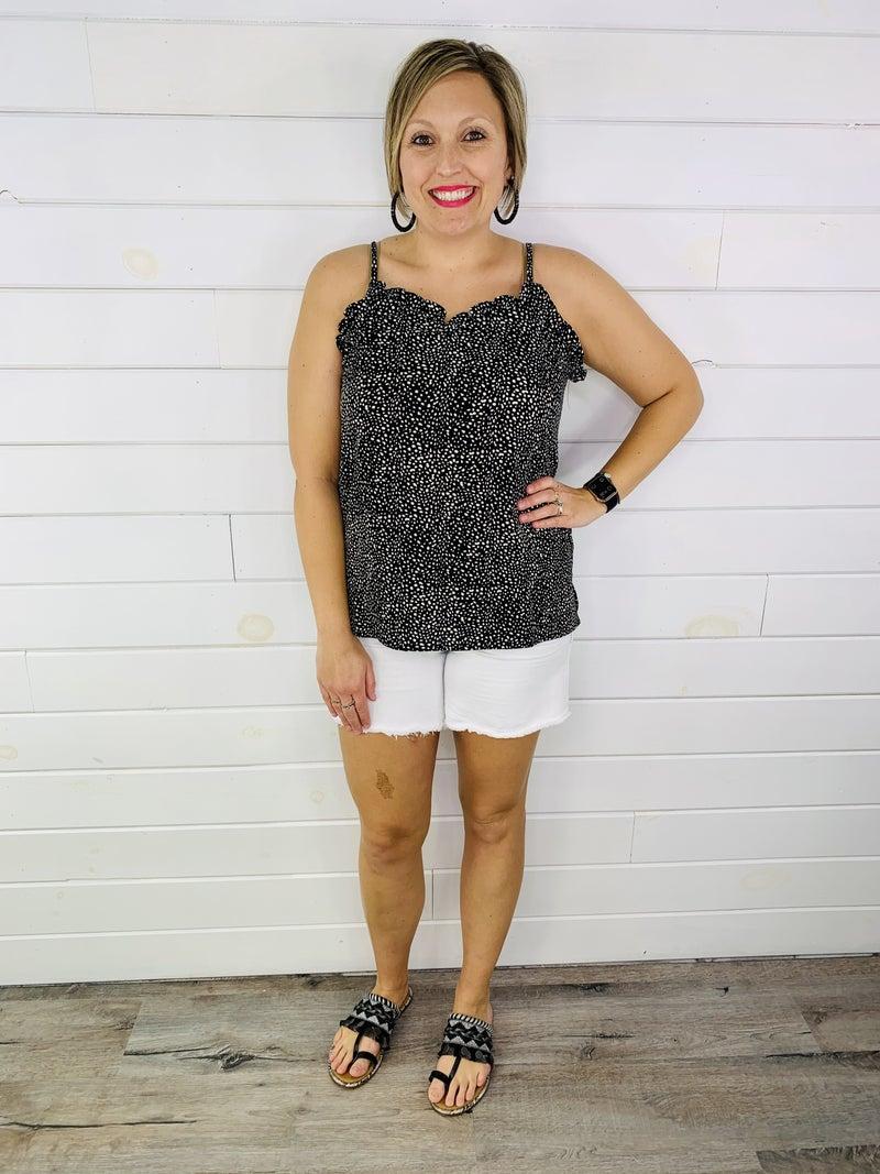 PLUS/REG Judy Blue White Bright Sunshiney Day Stretchy Shorts