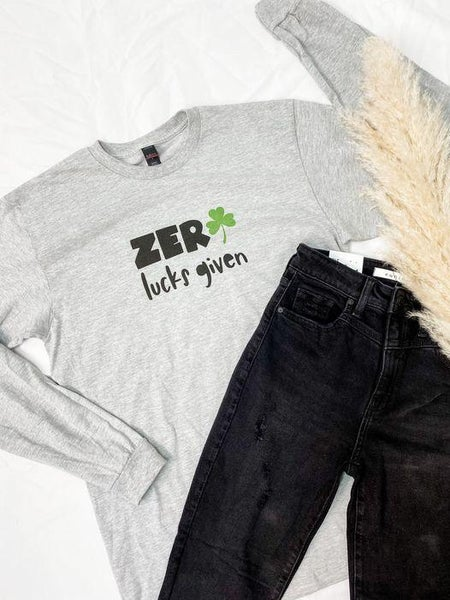 PREORDER Plus/Reg Zero Lucks Given Long Sleeve Tee