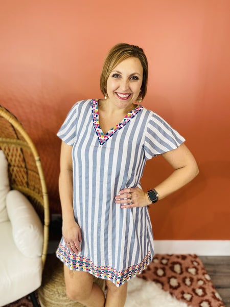 PLUS/REG Earn Your Stripes Dress