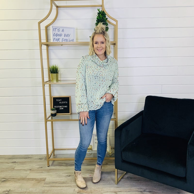 PLUS/REG Mint To Be Sweater