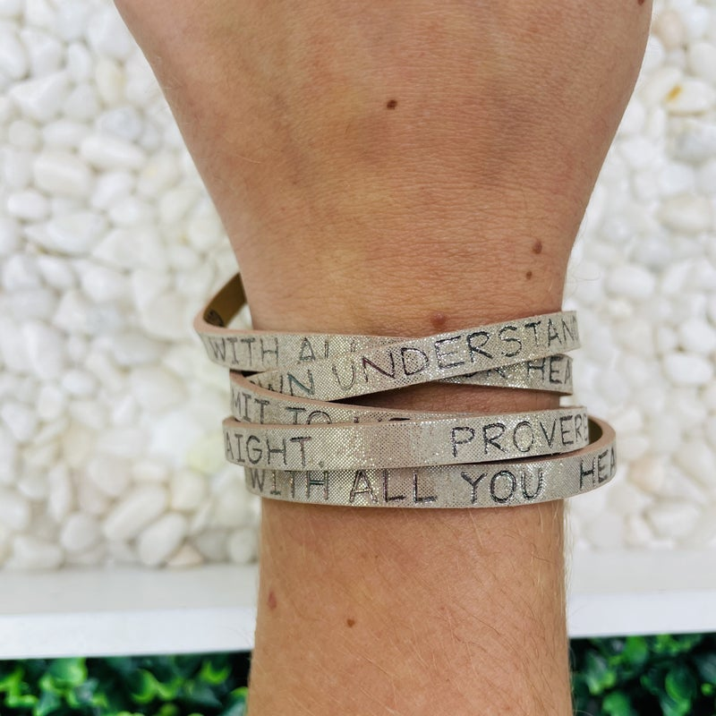 Trust In The Lord With All Your Heart Wrap Bracelet