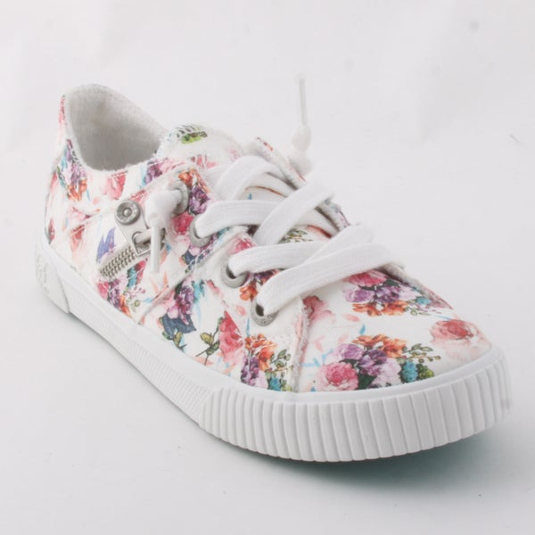Blowfish Ivory and Floral Canvas Sneakers