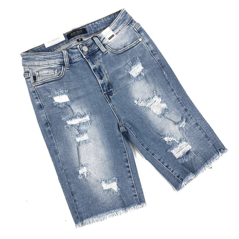 PLUS/REG Judy Blue I Miss Mayberry Bermuda Stretchy Shorts