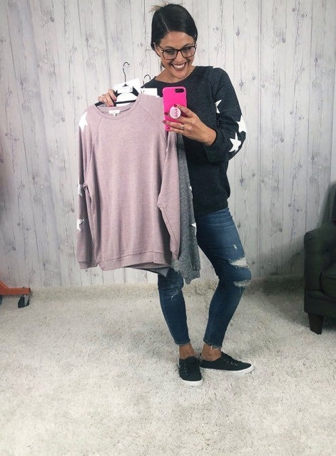 Easel Plus/ Reg Seeing Stars Crewneck Sweatshirt
