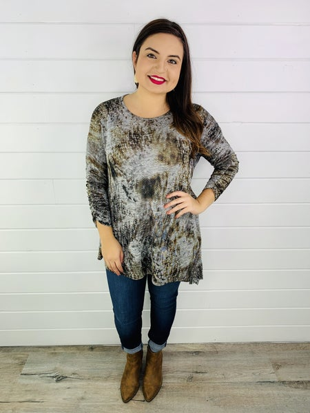 PLUS/REG Shimmer Ombre Tunic