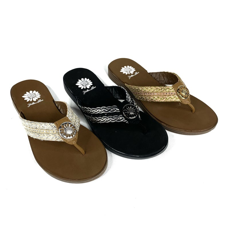Yellowbox Braided Fashion Sandal with Detailing-- 3 Colors!