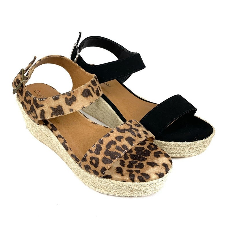 Strappy Wedge Sandals - 2 Colors!