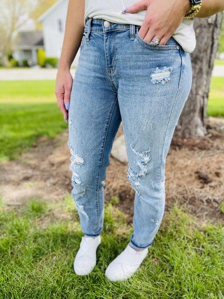 Plus/Reg Judy Blue Flavor of The Week Boyfriend Jeans